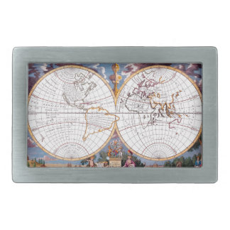 A New Map Of The Terraqueous Globe Belt Buckle
