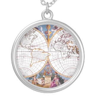 A New Map Of The Terraqueous Globe Necklace