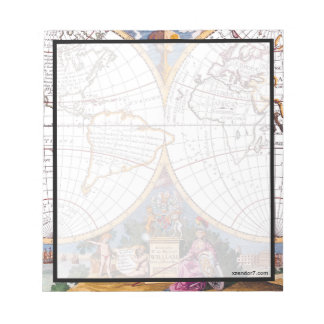 A New Map Of The Terraqueous Globe Notepad