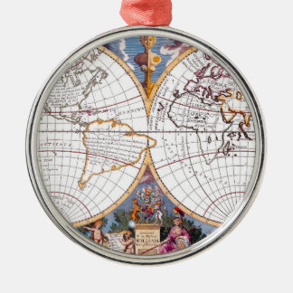 A New Map Of The Terraqueous Globe Round Ornament