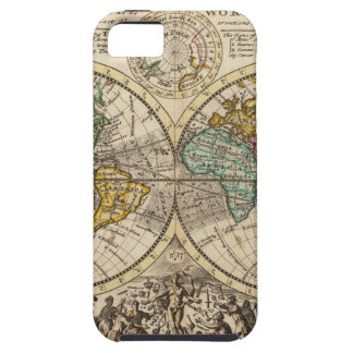 A new map of the whole world with trade winds iPhone 5 cover