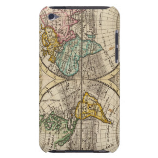 A new map of the whole world with trade winds iPod touch Case-Mate case