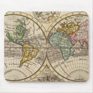 A new map of the whole world with trade winds mouse pad