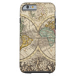 A new map of the whole world with trade winds tough iPhone 6 case