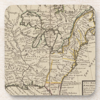 A new map of ye north parts of America Beverage Coaster