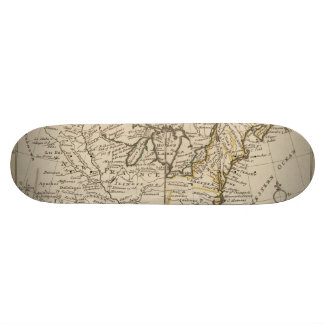 A new map of ye north parts of America Skateboard Deck