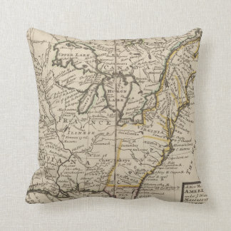 A new map of ye north parts of America Throw Pillow