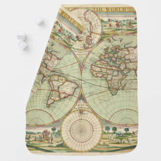 A new mapp of the world - Atlas Swaddle Blanket