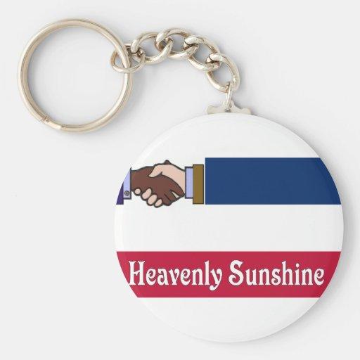A New Mississippi: Heavenly Sunshine Basic Round Button Keychain