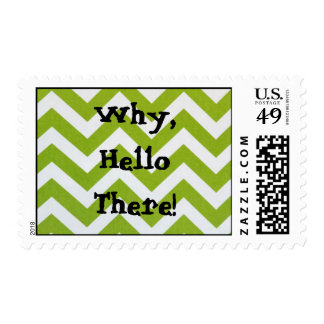A new, quirky, fun way to 'Hello' on a stamp! Postage
