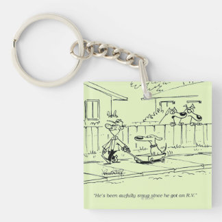 A New Ride Square Acrylic Key Chain