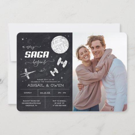 A New Saga Begins | Star Wars Engagement Invitation