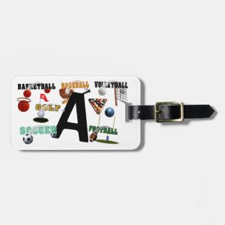 A - New Sports Design Monogram Luggage Tag