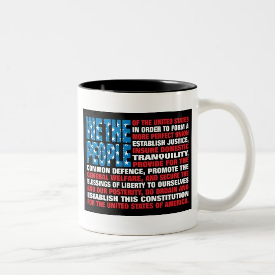 A New Twist on Old Glory Two-Tone Coffee Mug