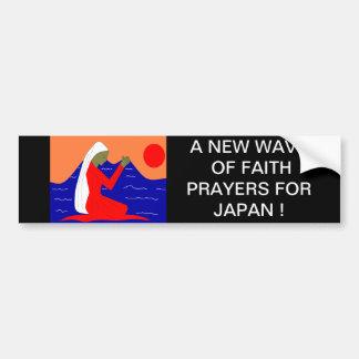 A NEW WAVE OF FAITH PRAYERS FOR JAPAN BUMPER STICKER