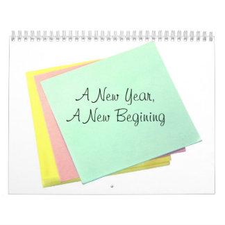 A New Year, A New Begining Calendar