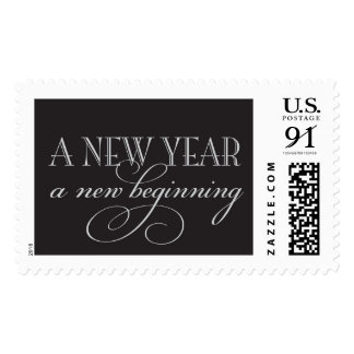 A new year a new beginning postage stamps