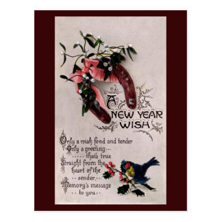 A New Year Wish Post Card