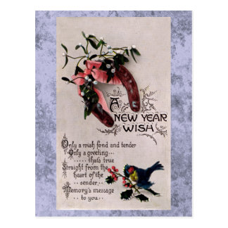A New Year Wish Postcard