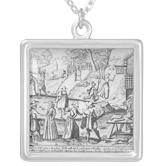 A New Year's Gift for Shrews Silver Plated Necklace