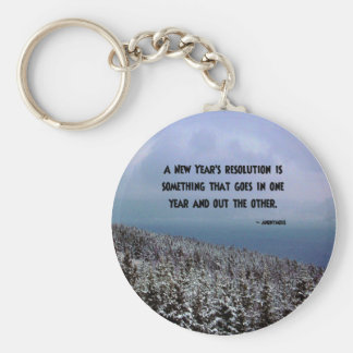 A New Year's Resolution... Key Chain