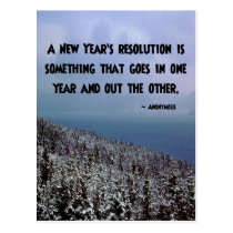 A New Year's Resolution... Postcard