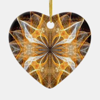 A New Year's Star 2014 Double-Sided Heart Ceramic Christmas Ornament