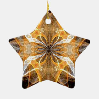 A New Year's Star 2014 Double-Sided Star Ceramic Christmas Ornament