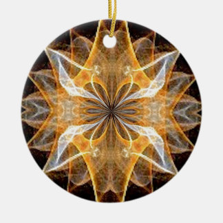 A New Year's Star 2014 Double-Sided Ceramic Round Christmas Ornament