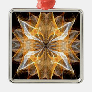 A New Year's Star 2014 Square Metal Christmas Ornament