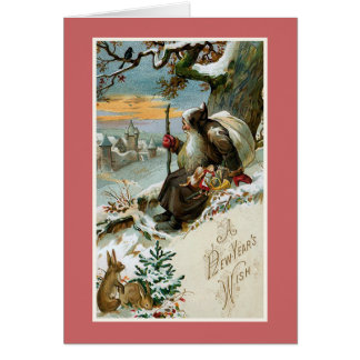 """A New Year's Wish"" Vintage Card"
