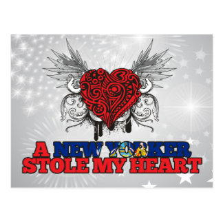 A New Yorker Stole my Heart Postcard