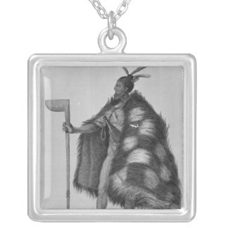 A New Zealand warrior Square Pendant Necklace