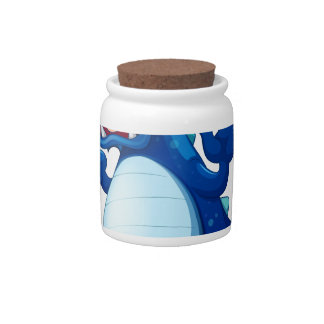 A newly hatched blue dragon candy jars