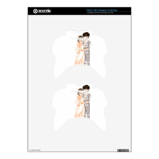 A newly-wed couple xbox 360 controller decal