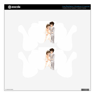 A newly-wed couple PS3 controller decals