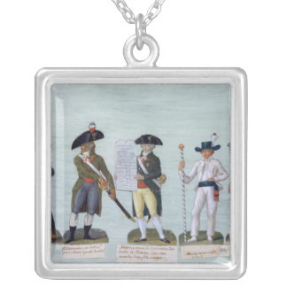 A Newspaper Seller, a Citizen Ready to Fight Square Pendant Necklace