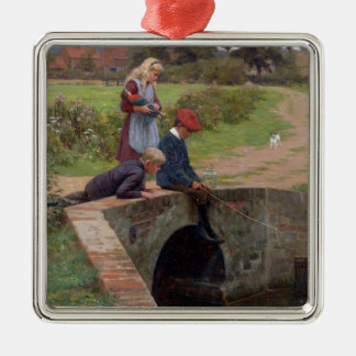 A Nibble, 1914 (oil on panel) Metal Ornament
