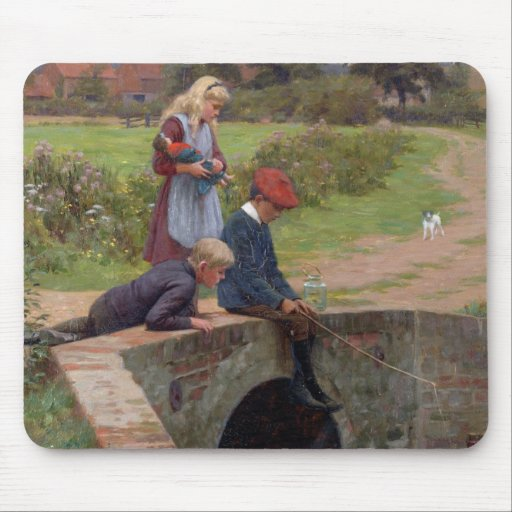 A Nibble, 1914 (oil on panel) Mouse Pad