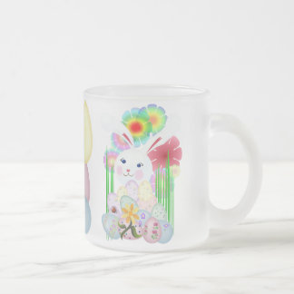 A Nice and Normal Easter Bunny Frosted Glass Coffee Mug