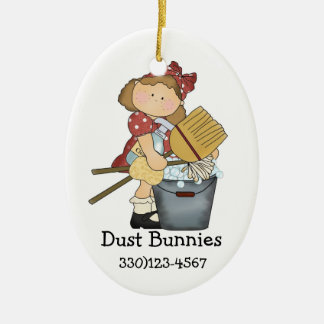 A Nice CLEAN Theme Double-Sided Oval Ceramic Christmas Ornament