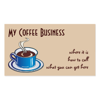 A nice cup of coffee business card templates