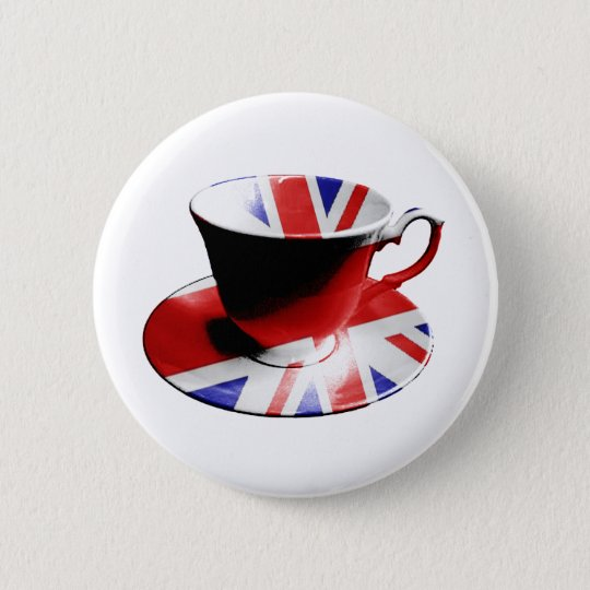 A nice cup of English Tea Button