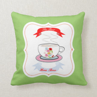 A Nice Cup of Tea Homely Theme Throw Pillow