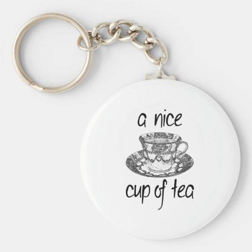 A Nice Cup of Tea Keychains