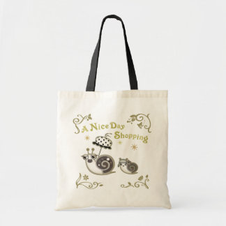 A Nice Day Shopping Budget Tote Bag