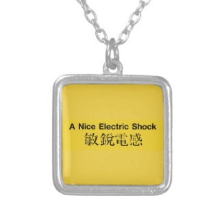 A Nice Electric Shock, Chinese Sign Silver Plated Necklace