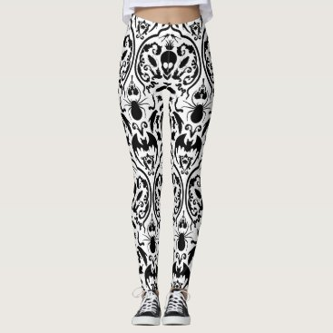 Halloween Themed A Nice Halloween Damask Leggings