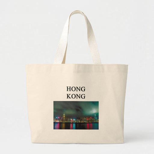 a nice homg kong picture canvas bag