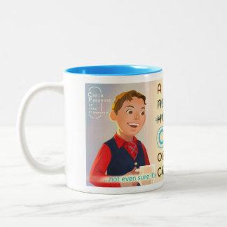 A nice hot cup of coffee Two-Tone coffee mug